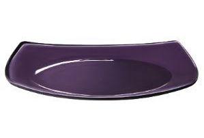 Тарелка десертная 17Х17cm Cashmere, фиолет., стекло закален.
