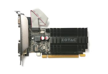 ZOTAC GeForce GT710 Zone Edition 1GB DDR3, 64bit, 954/1600Mhz, Passive Cooling, HDCP, DVI, HDMI, VGA, 2x Low profile bracket included, Lite Pack