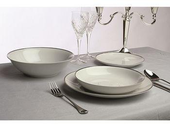 "Набор посуды ""Metropol Fascetta"" 19ед, бел серебр кайма"