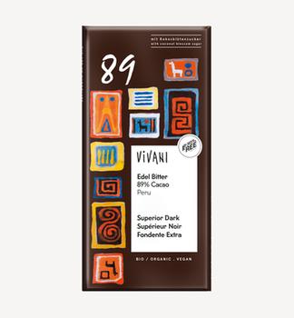 Ciocolată amară bio 89% bio Vivani 80g