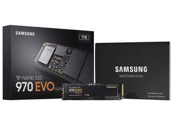 .M.2 NVMe SSD 1,0 ТБ Samsung 970 EVO [PCIe 3.0 x4, R / W: 3400/2500 МБ / с, 500/450 K IOPS, Phx, TLC]
