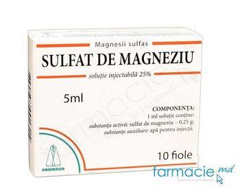купить Магнезии сульфат, раствор для инъекций. 25% 5 мл № 10 (Farmaco) в Кишинёве