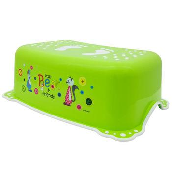 "Подставка ""Bear&Friends"" c нескользящими резинками, зелено/белая, код 41043"