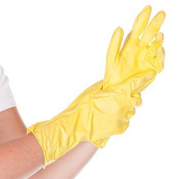 Хозяйственные перчатки VERA, ВИНИЛОВЫЕ, ЖЕЛТЫЕ, 30СМ, размер M
