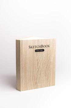 Скетчбук Малевичъ для графики GrafArt, Light Wood, 150 гм, 14,5x19 см, 80 л