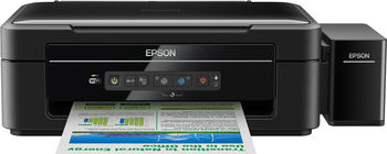 MFD Epson L366 , A4, Printer/Scanner/Copier, Wi-Fi, 5760x1440dpi_3pl, 33/15ppm, 64-255 г\м, 4 tank, Ink Toner T6641Bk, T6642C, T6644Y, T6643M - 70ml (bk-4500/color-6000pag.)