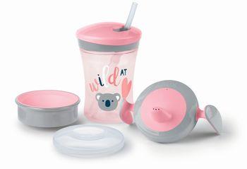 купить Набор NUK Learn to Drink (6+мес) розовый в Кишинёве