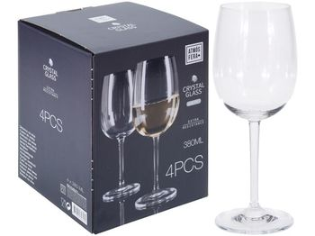 Набор бокалов для белого вина Atmosfera Invino 4шт, 380ml