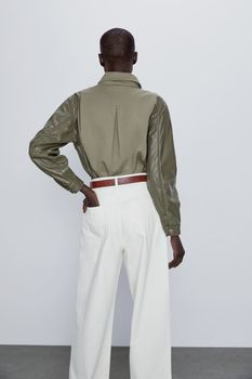 Блуза ZARA Хаки 1889/051/505