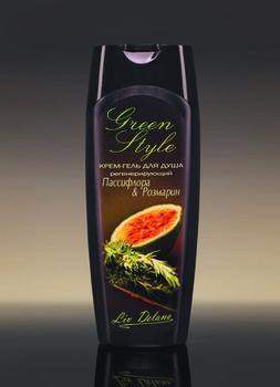 купить Крем-гель для душа регенерирующий «Пассифлора&Розмарин» Green Style в Кишинёве