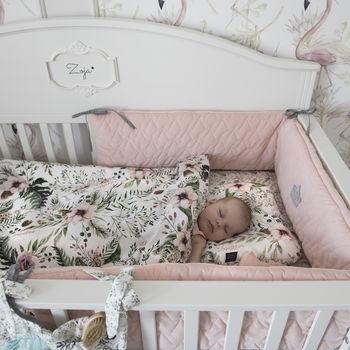 купить Бортики в кроватку LaMillou Velvet Collection Powder Pink в Кишинёве