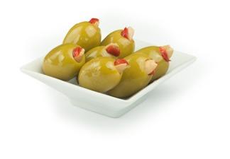 купить КОРОЛЕВСКИЕ ГИГАНСКИЕ оливки с Паприкой и Чесноком(в расоле) ГРЕЦИЯ 250гр=33 ЛЕЯ. в Кишинёве