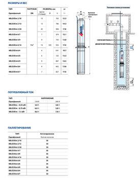 купить Скважинный глубинный насос Pedrollo 4BLOCKm4/14 1.1 кВт до 92м в Кишинёве