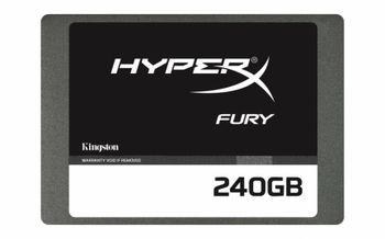 "2.5"" SSD 240GB  Kingston HyperX FURY, SATAIII, Sequential Reads:500 MB/s, Sequential Writes:500 MB/s, Max Random 4k: Read: 84,000 IOPS / Write: 41,000 IOPS, 7mm, Controller LSI® SandForce® SF-2281, NAND MLC"