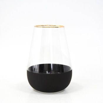 Декоративная ваза, GS, Стекло, 21см, Бесцветный