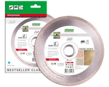 купить Алмазный отрезной диск Distar 1A1R 180x1,5x8,5x25,4 Bestseller Ceramic granite в Кишинёве