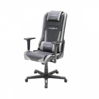 Office Chairs DXRacer - Elite OH/EA01/NG, Gamer weight 70kg/height 170cm, Leather Style Vinyl Cover - Black/Black/Gray, Foam Density 50kg/m3, 5-star 5-star Nylon Base,Gas Lift 4Class, Tilt Mech-Angle 135*, Adjustable Arms-3D, Pillow-2, Caster-3, 25kg