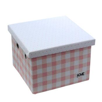 купить Коробка с крышкой 280x280x200 мм, розовый в Кишинёве