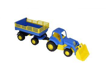 купить Полесье трактор с прицепом и ковшом Крепыш в Кишинёве