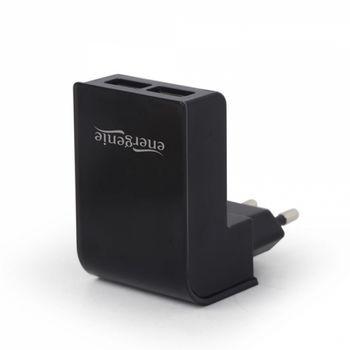 Universal USB Charger - Gembird EG-U2C2A-02, 2x USB - 5V/2.1A, Input: 110/240V, Black