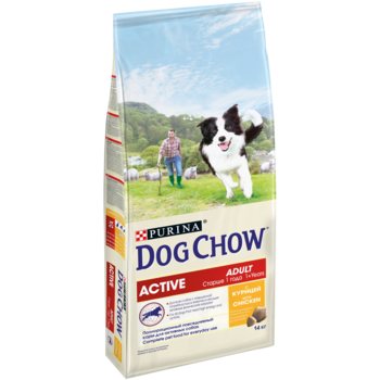купить DOG CHOW Active 1kg (для взрослых активных собак, с курицей) в Кишинёве