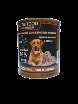 cumpără Nutridog super premium (pui + orez + somon + Omega 3) în Chișinău