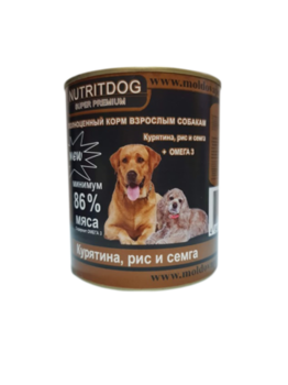 купить Nutridog super premium (курица + рис + сёмга + Омега 3 ) в Кишинёве