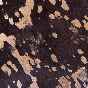 купить Ковер из натуральной кожи COW BROWN ACID BRONCE SKIN, коричневая с вкраплениями позолоты в Кишинёве