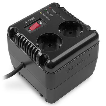 {u'ru': u'SVEN VR-L600, 200W, Automatic Voltage Regulator, 2x Schuko outlets, Input voltage: 184-285V, Output voltage: 230V \xb1 10%, diod indicators on the front panel, plastic body, Black', u'ro': u'SVEN VR-L600, 200W, Automatic Voltage Regulator, 2x Schuko outlets, Input voltage: 184-285V, Output voltage: 230V \xb1 10%, diod indicators on the front panel, plastic body, Black'}
