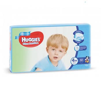 cumpără Huggies scutece Ultra Comfort 4+ pentru băieței, 10-16kg, 68buc. în Chișinău