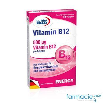 купить Vitamina B12 500mcg comp. N60 EuRho Vital в Кишинёве