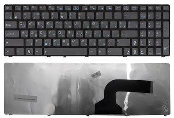 Keyboard Asus K52 K53 K54 VX7 G51 G53 G60 G72 G73 A73 UL50 UX50 N61 N60 N71 N73 X61 A52 K73 B53 R503 R704 X54 A54 X55 X52 N53 X73 X75 X77 X64 ENG/RU Black
