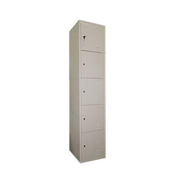 купить Металлический шкаф для хранения сумок 5-и дверный, металлический 1850x380x450 мм, RAL 9001 в Кишинёве