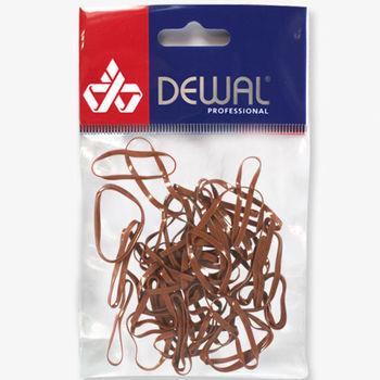 Резинки для волос силиконовые, midi (50 шт) DEWAL RES033