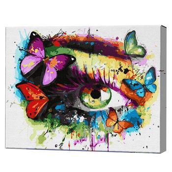Абстрактный глаз, 40х50 см, картина по номерам Артукул: GX36223