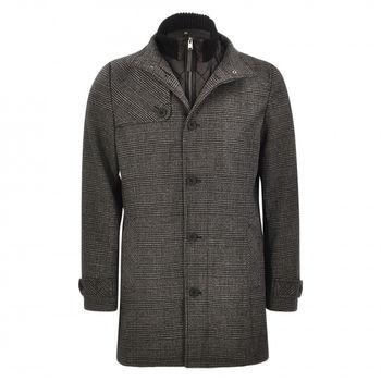 Куртка TOM TAILOR Серый в клетку 1012125 Mantel Regular Fit - Wollmix