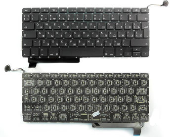 "Keyboard Apple Macbook Pro 15"" A1286 (2009-2012) w/o frame ""ENTER""-big ENG/RU Black"