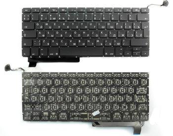 "Keyboard Apple Macbook Pro 15"" A1286 (2009-2012) w/o frame ""ENTER""-big ENG/RU Black"