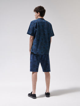 Рубашка CROPP Темно синий с принтом