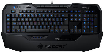 ROCCAT Isku FX (Black) / Multicolor Gaming Keyboard, Extra-large wrist rest, 8+3 programmable keys, Multicolor key illumination (6-level brightness), MACRO LIVE! Recording, EASY-SHIFT[+]™, USB