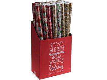 """Бумага оберточная для подарков H70cm, L8m, """"Новогодний дизай"""