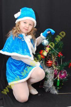Карнавальный костюм: Снегурочка