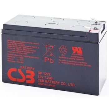 CSB Battery 12V 7.2AH, GP 1272 F2, 3-5 Years Life Time