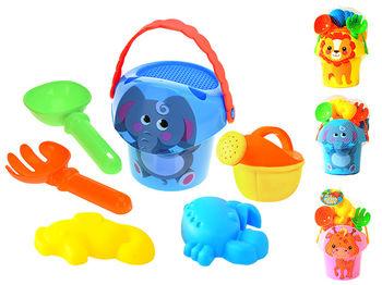 """Набор игрушек для песка в ведерке """"Животное"""" 6ед, 26X16cm"""