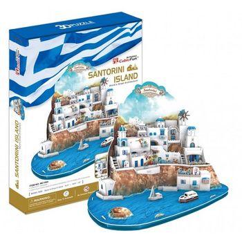купить CubicFun пазл 3D Santorini Island в Кишинёве