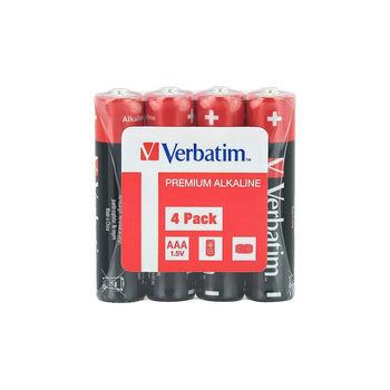 Verbatim AAA Alkaline Battery 4 Pack Shrink 49500