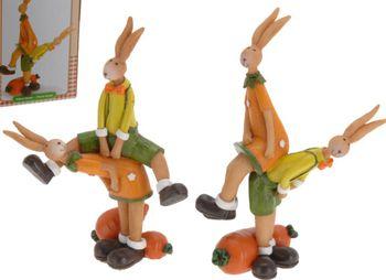 """Сувенир """"Кролики играющие в лапту"""" 8.6X5.7X13cm"""