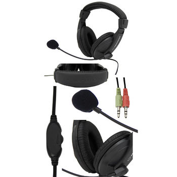 Esperanza EH-103 stereo headset with microphone and volume control