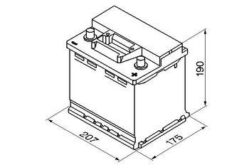 Bosch S3 12V 45Ah 400EN 207x175x190 -/+