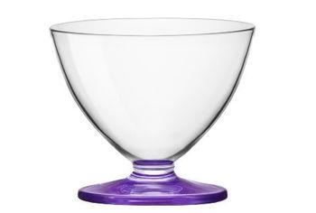 Набор креманок Tulip 3шт, 260ml, фиолетовые